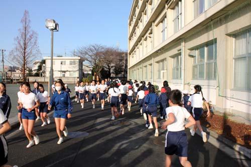 マラソンの練習が始まりました