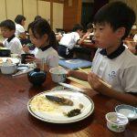 2年わくわくスクール 朝会・朝食