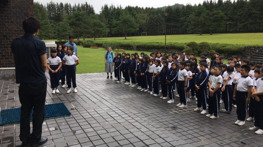 3年 富士林間学校 2日目 ホテル出発
