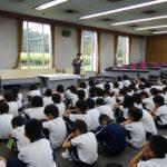 3年富士林間学校 2日目 朝会・祈りの集い