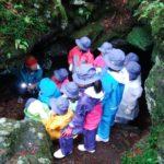 3年富士林間学校 2日目 溶岩樹形